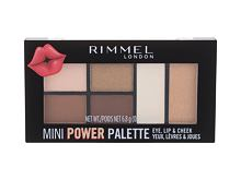 Beauty Set Rimmel London Mini Power Palette 6,8 g 003 Queen
